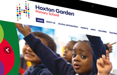 Hoxton Garden Primary School homepage website design