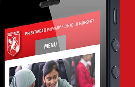 Priestmead Primary School and Nursery website creation photography