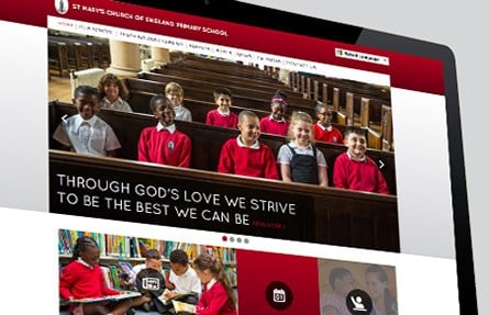 St Mary's Church of England Primary School website creation photography