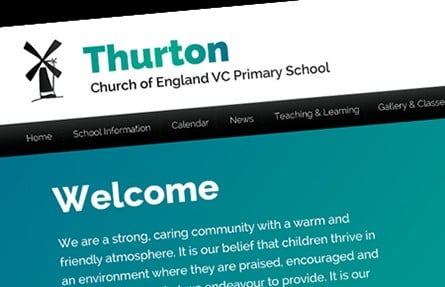 Thurton Church of England VC Primary School website design