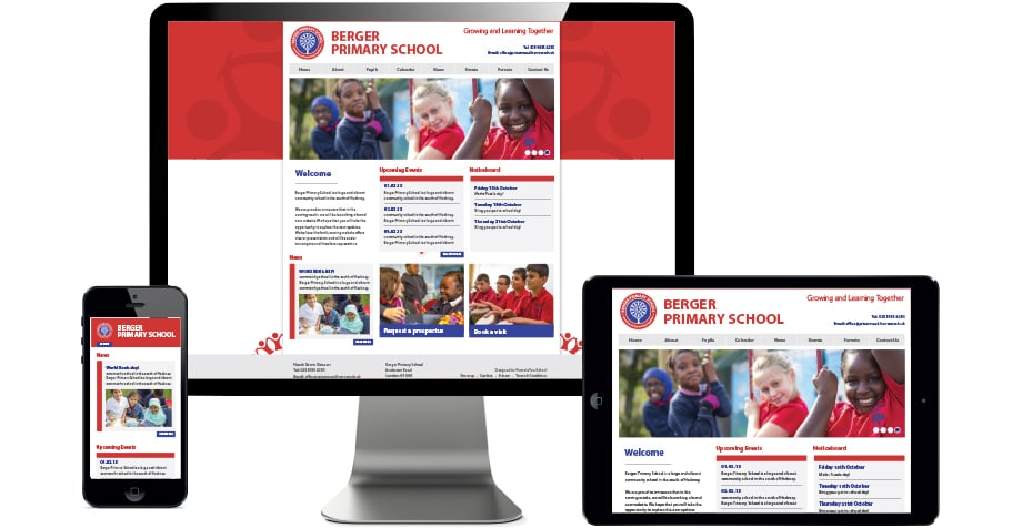 Berger primary School branding and website