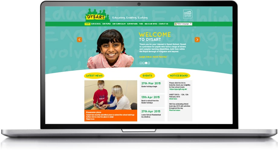 Dysart School bespoke learning disability website design