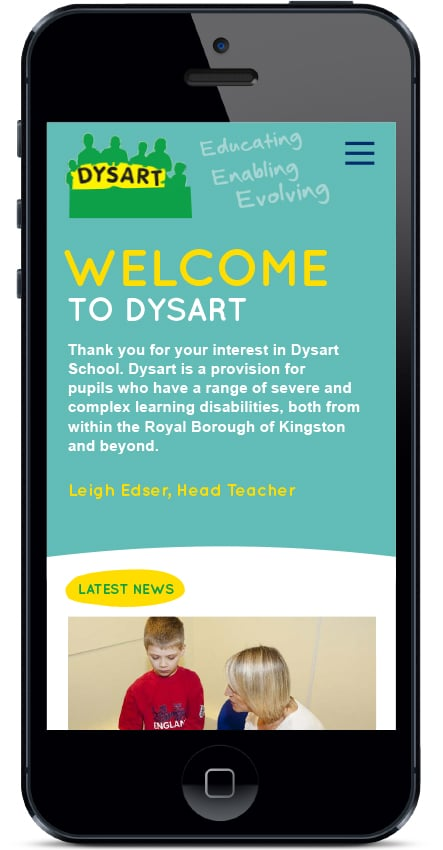 Bespoke design for learning disability school website design