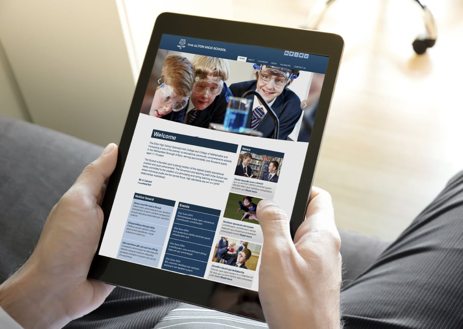 The Elton high Schools bespoke website design
