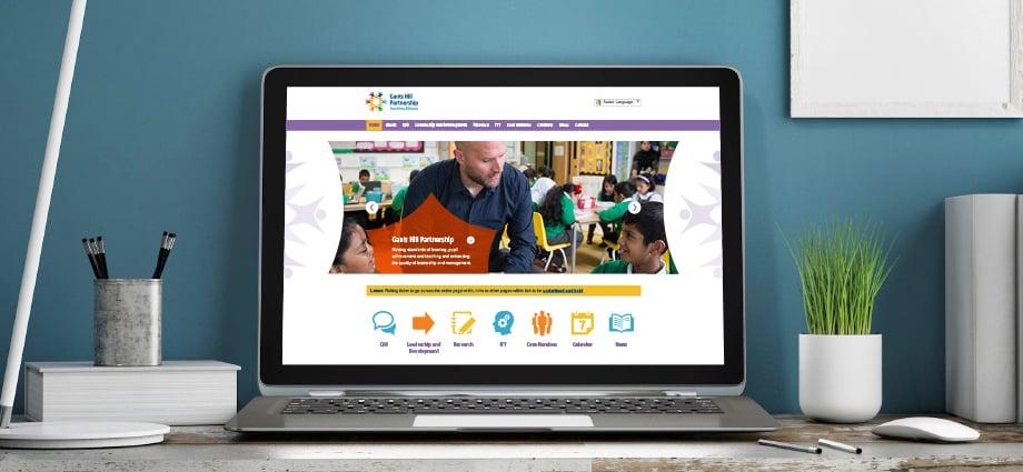 Gants Hill Partnership bespoke vibrant website design