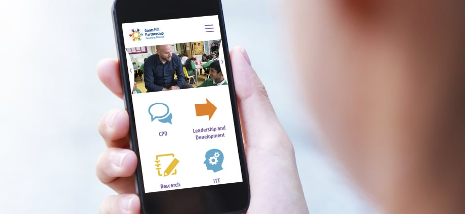 Gants Hill Partnership custom and responsive website design
