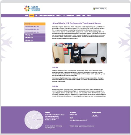 Gants Hill Partnership preview of bespoke school website design
