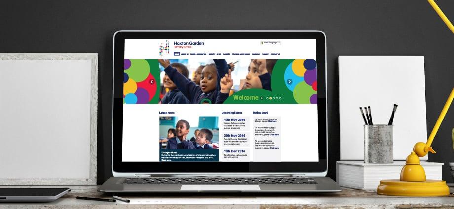 Hoxton Garden Primary School contemporary branding and website design