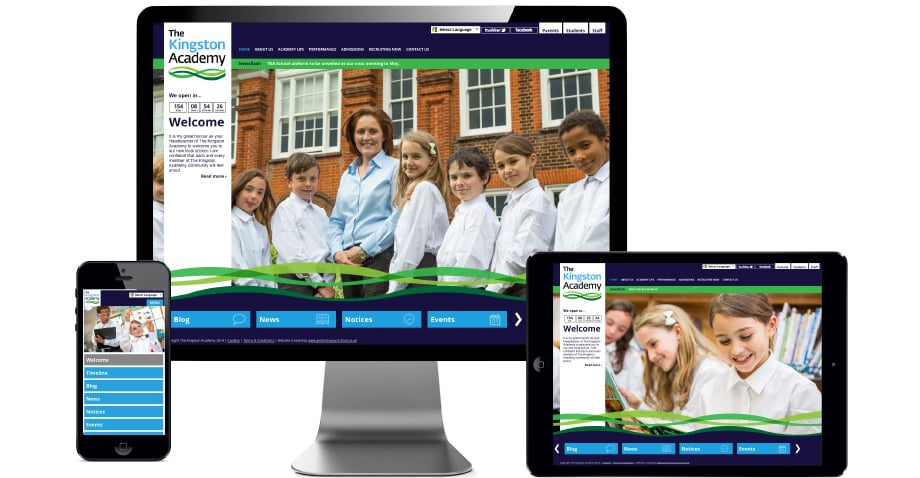 Kingston Academy Website branding photography