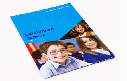 Latchmere School bespoke vibrant prospectus design
