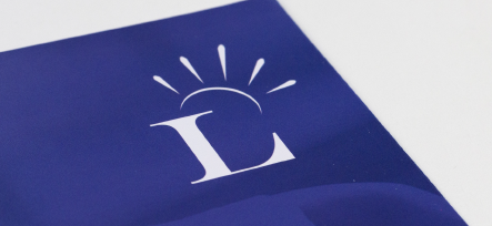 Latchmere School close up of bespoke logo for prospectus design