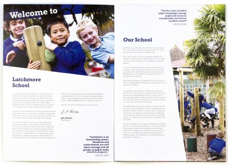 Latchmere School unique and vibrant bespoke prospectus design