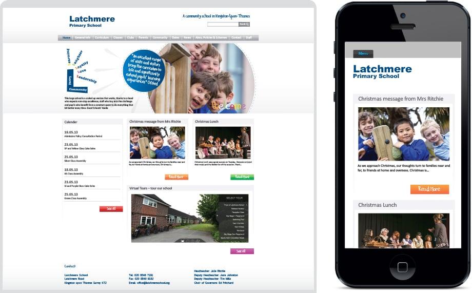 Latchmere School responsive vibrant website design