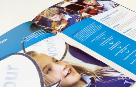 Latchmere School vibrant prospectus graphic design