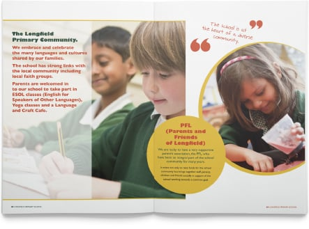 Diversity within design for bespoke school prospectus