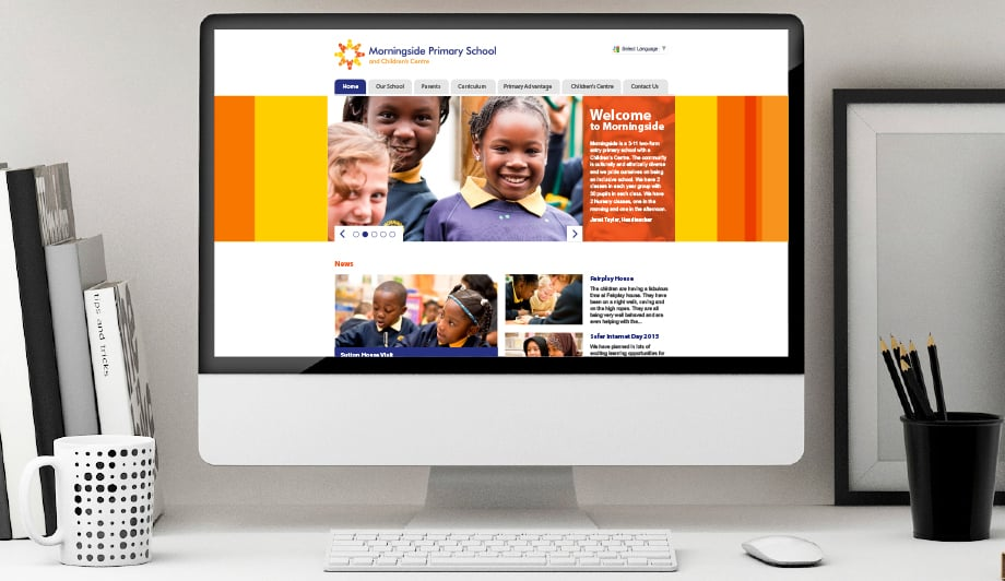 Morningside Primary School prospectus branding graphic design