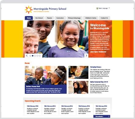 Morningside Primary School vibrant bespoke website design