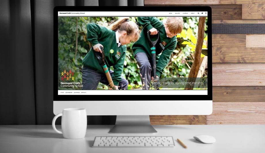 Normand Croft Community School bespoke website, branding