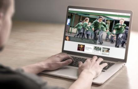 Normand Croft Community School bespoke website design and branding