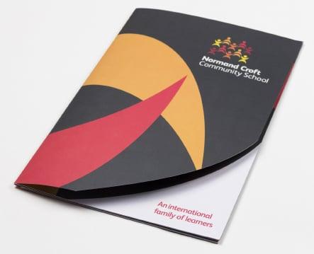 Normand Croft Community School prospectus website branding