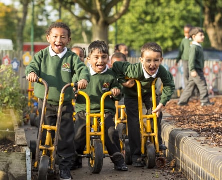 Normand Croft Primary School pupil photography for prospectus design