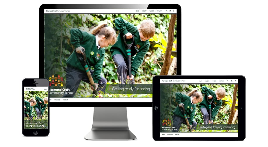 Normand Croft Community School bespoke website design