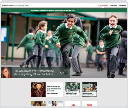 Normand Croft Community School responsive website design
