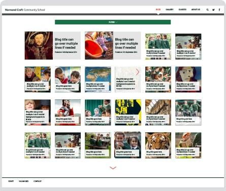 Normand Croft Community School website design