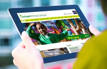 Orchard Primary School website and branding