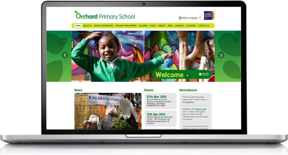 Orchard Primary School bespoke and responsive website design