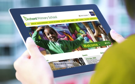 Orchard Primary School vibrant bespoke website design