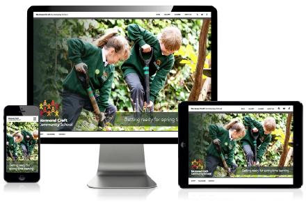 Bespoke design for responsive school websites