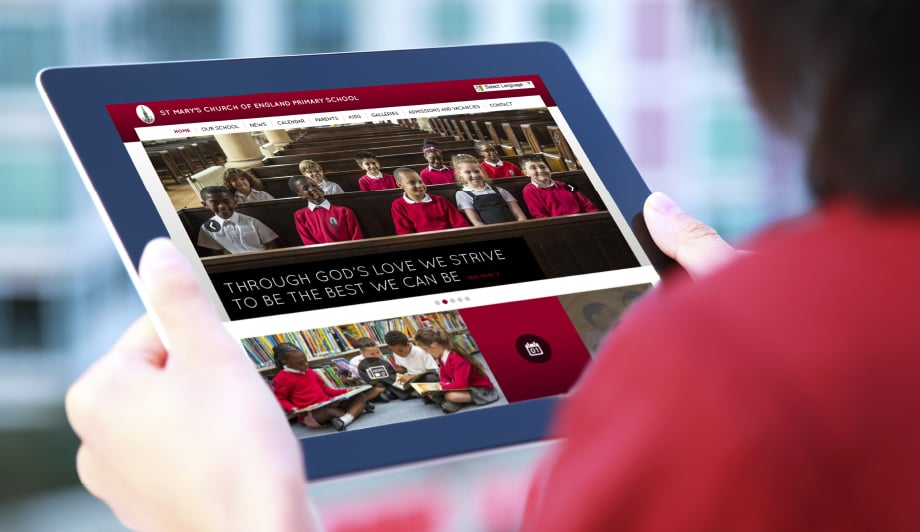 ST Marys school website rebranding