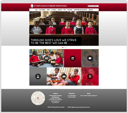 St Marys school responsive website rebranding