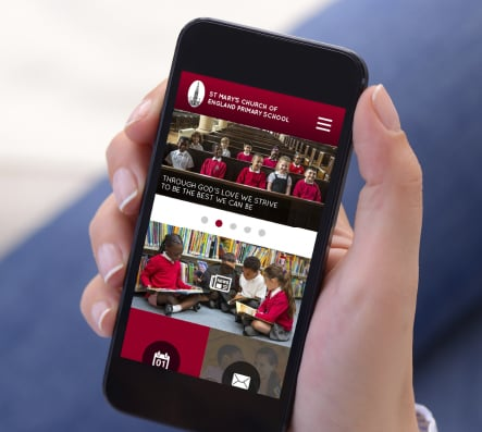 St Marys School rebranding with website and applications