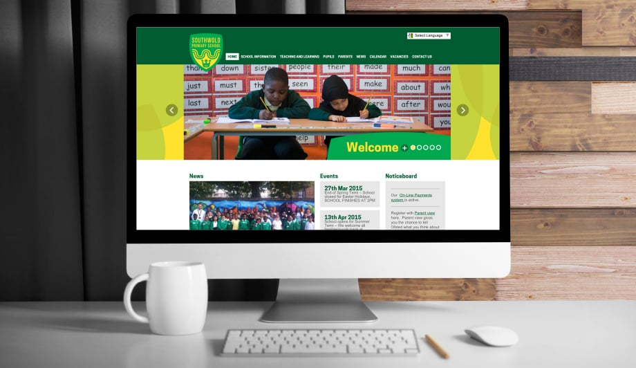 Hackney London Primary School website creation
