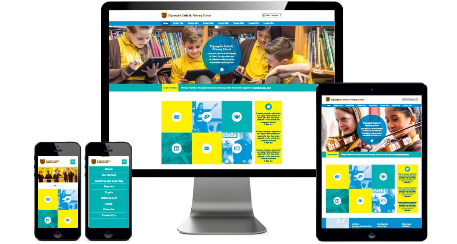St Josephs Primary Schools responsive website design