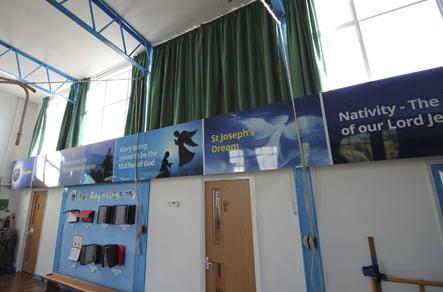Catholic School RE Hall key values wall art