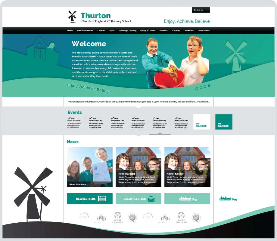 Thurton Church of England VC Primary School web design