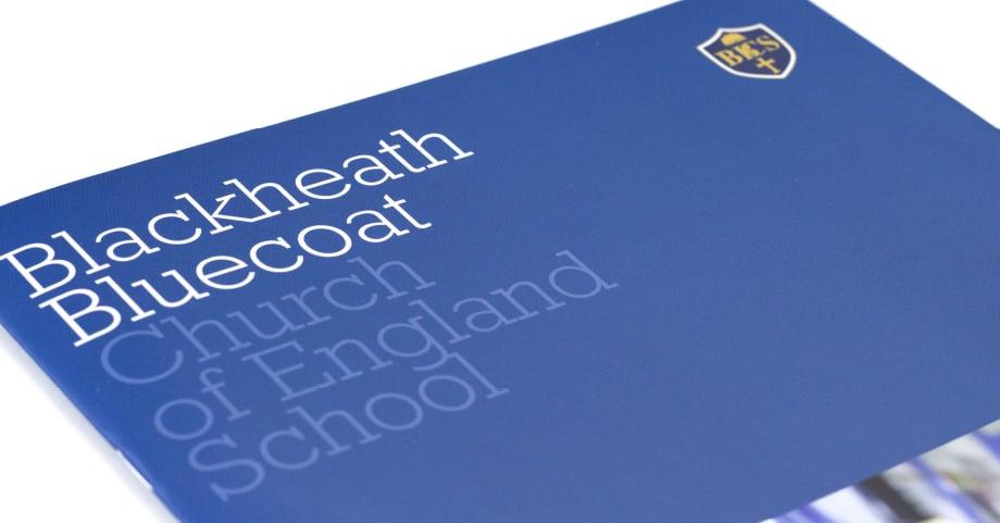 Blackheath Bluecoat Church of England School bespoke prospectus design