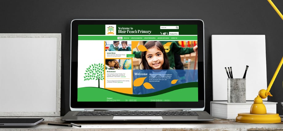 Blair Peach bespoke responsive school website design