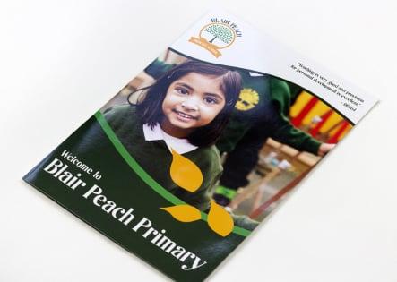 Blair peach Primary School bespoke prospectus design