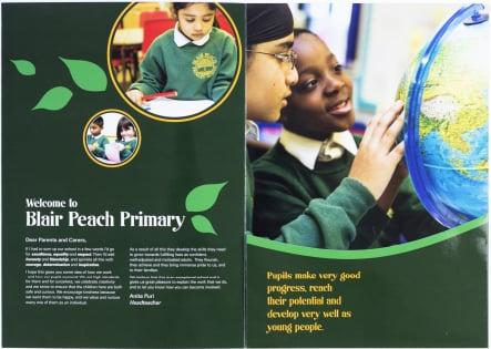 Blair Peach Primary School unique design school prospectus