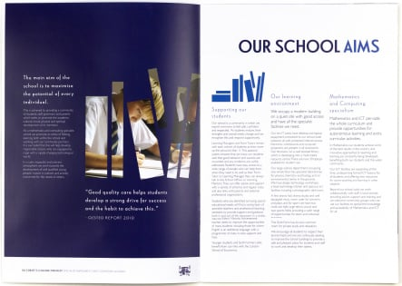 Bespoke design and print college prospectus and branding