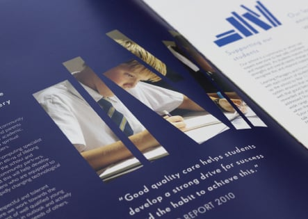 Christs College Finchley bespoke prospectus design and branding
