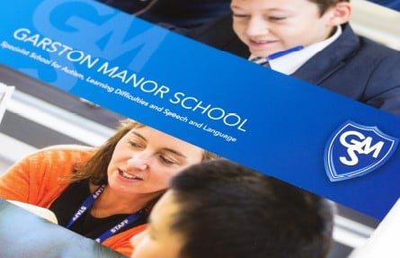 Garston Manor School prospectus graphic design
