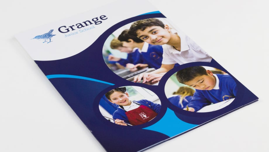 Grange Junior School Farnborough prospectus design photography