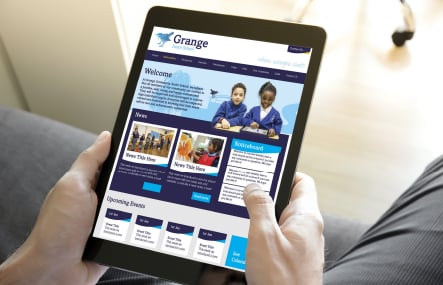 Grange Primary School responsive website development