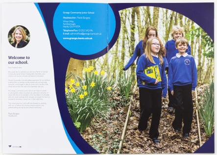 Farnborough junior school brochure photography