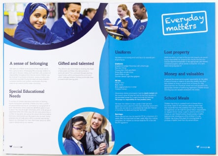 Grange School bespoke prospectus graphic design